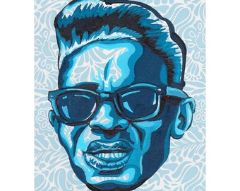 Lightnin' Hopkins -  limited edition print by Mr. Hooper of Nashville, Tennessee