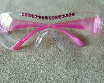 HOT Pink Safety Crystal Glasses Ladies