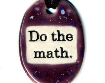 Do The Math Ceramic Necklace in Spotted Purple