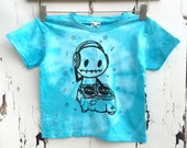 3 to 4 yrs kids blue tie dye music DJ t-shirt pop rock star party love rocky the zombie