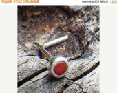 20% OFF TODAY - Bamboo Coral Nose Ring ... tiny 3mm red coral nose stud orange red bamboo coral nose ring