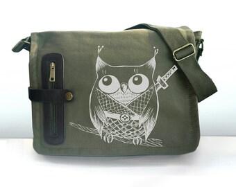 Kawaii Ninja Owl  messenger bag
