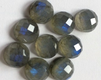 Gemstone Cabochons Labradorite Checkerboard Round 10mm FOR ONE