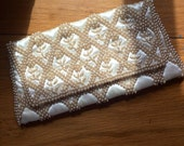 1950s Ivory Beaded Clutch - Vintage Wedding Accessory