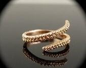 VDay SALE SALE- OctopusME 14K Rose Gold Tentacle Stacking Ring