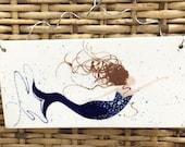 CUSTOM LISTING for ELISSA: Mermaid Wall Plaque. Home Decor. Kitchen. Housewarming. Mermaid. Handmade by Sara Hunter Designs