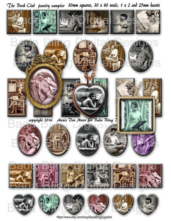 The book club jewelry sampler instant download 30mm sq for Jewelry books free download