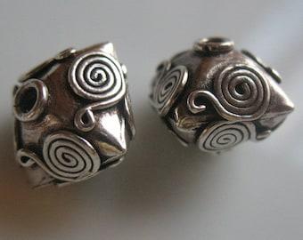Beads-925 sterling silver beads-sterling silver beading supplies-one bead-sterling silver bead