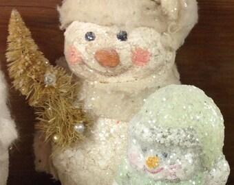 Snowman original with sisal tree