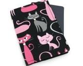 Cats on Black Passport Cover, Passport Holder, Passport Wallet, Passport Case, Travel Gift