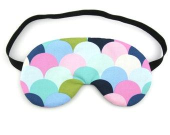 Pastel Scales Sleep Eye Mask, Sleeping Mask, Travel Mask, Eye Mask, Sleep Mask