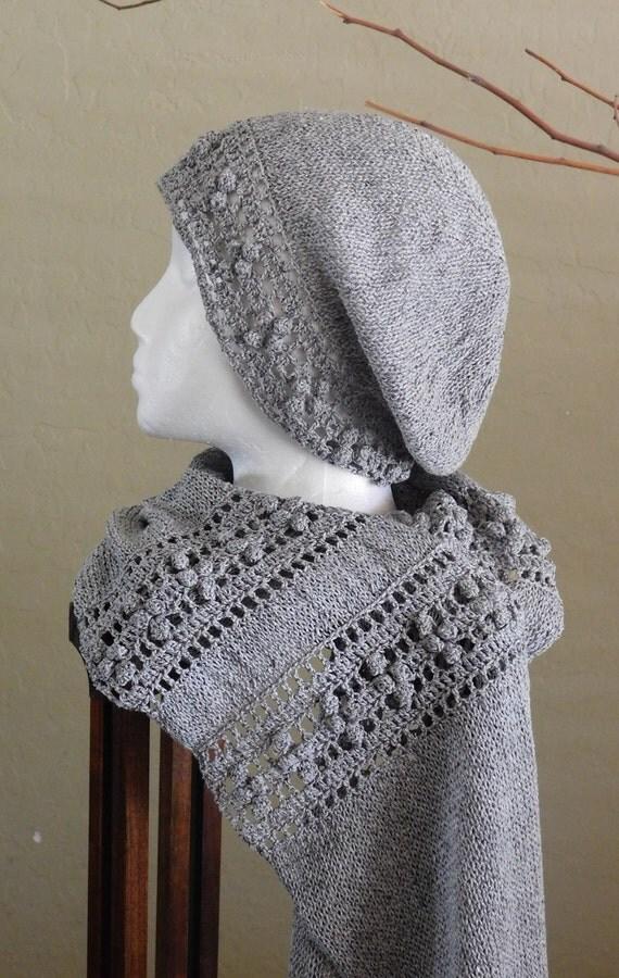 "Knitting/Crochet Pattern: ""Garden Gate"" Scarf & Hat by DanDoh, Yumiko Alexander"