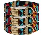 Tribal Dog Collar, Native American, Personalized Aztec Dog Collar, Laser Engraved, Kickapoo
