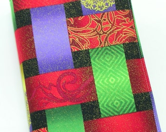 Fabric Book Cover (for hardbound bestseller size books) with sewn in ribbon bookmark