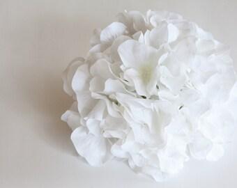 White Hydrangea - OVER 90 Hydrangea Petals in White -  read description - Silk Flowers, Artificial Flowers - ITEM 0421