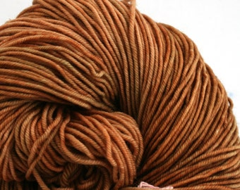 Hudson Superwash Merino Hand Painted worsted weight 240 yds Copper