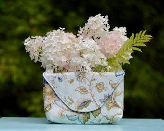 Clutch - Light Blue Floral - Wallet - Purse - Handbag - Gift - Wedding