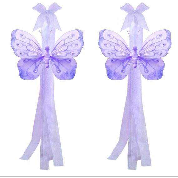 Items Similar To Butterfly Tiebacks Decorations Nylon Butterflies Tie Backs Purple Window Girls