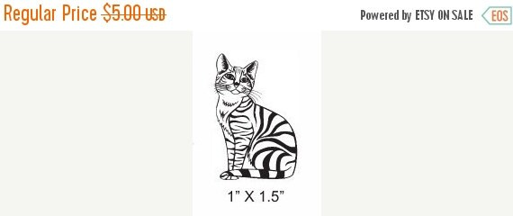 Clearance Tabby Cat  Rubber Stamp 185
