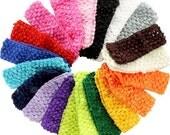 Infant Crochet, Headbands, Infant Baby, Girls Clip, Hair Bows, Orange White, Gray Black, brown khaki, Navy, Elastic, Stretchy