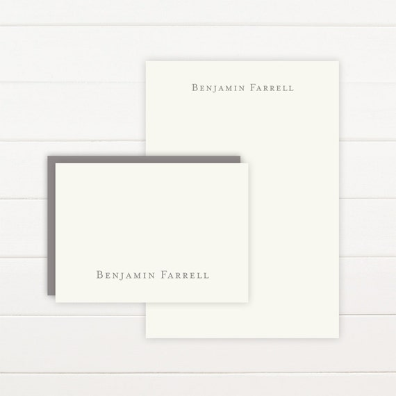 CLASSIC Personalized Stationery + Notepad Set, Personalized Notepad and Personalized Stationary - Graduation Gift