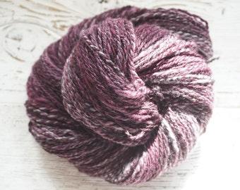 Handspun Yarn, Hand Spun Yarn, Merino, Silk, DK