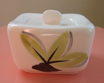 Woodleaf by Continental Kilns sugar covered dish bowl handpainted