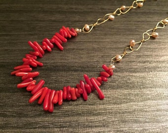 Cora in Red necklace