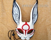 RESERVED for Donald.... Custom Okami leather rabbit mask