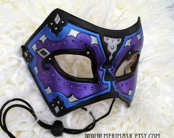 READY TO SHIP Persian Leather Mask... mask masquerade costume mardi gras halloween burning man fantasy