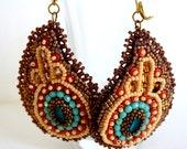 Paisley Earrings (Bead Embroidery)
