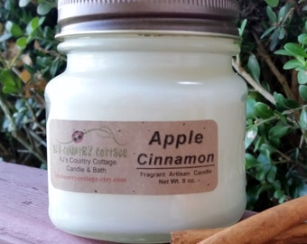 APPLE CINNAMON CANDLE - Strong - Classic Favorite