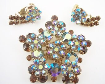 SALE Large Juliana Rhinestone Brooch Set