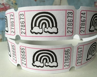 Reading Rainbow Vintage Style Hand Stamped Carnival Tickets