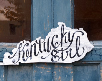Kentucky Girl Sign - Wood READY to SHIP! - homeschool - Lexington - Louisville - Paducah - Bowling Green - Owensboro - ABC - letter
