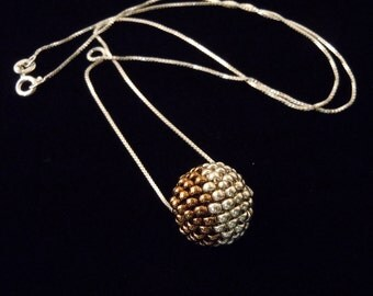 Sterling Silver Beaded Necklace - 18 Inches, Ready to Ship
