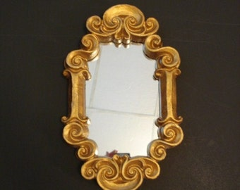 Vintage Gold Wall Mirror Ornate Wall Mirror Baroque Wall Mirror Hollywood Regency Wall Mirror Gilded Mirror