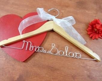 Personalized Hangers - Wedding Gown Hanger - Wedding Hanger Name - Coat Hanger - Dress Hangers - Accessories - Bride Dress Hanger