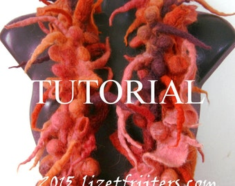 Shibori Felting Tutorial Pattern Shibori Felt Boa Scarf PDF - Instant Download