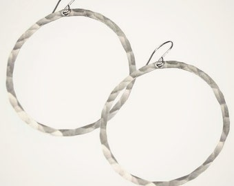organic hoop earrings sterling silver hoop earrings large hoop earrings lightweight earrings sterling silver hammered hoop jewelry