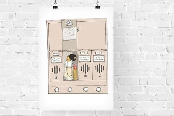 Holly Golightly's Mailbox Fashion Illustration Art Print