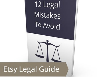 12 Etsy Legal Mistakes to Avoid - Legal Assistance, Legal Help, Online Legal Advice, Legal Help Online, Legal Etsy Shop, Illegal Etsy Shop