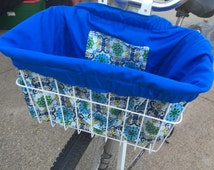 Oceans Away Bike Basket Liner and Purse in One