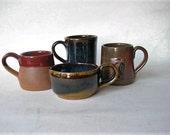 Espresso Cups  Unique Set of 4