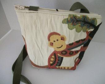 Monkey Upholstery Fabric Shoulder bag