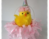 Easter Decoration Party Chick l in an Easter Nut Cup Easter Ornament Easter Decor for Easter Party