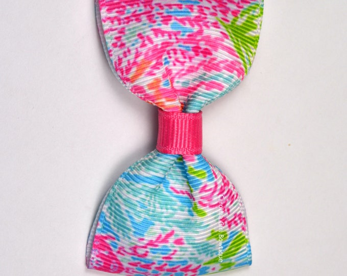 "Lets Cha Cha ~ 3"" Hair Bow Tuxedo Bow ~ Lilly Inspired ~ Simple Bow ~ Boutique Bow for Babies Toddlers ~ Girls Hair Bows"