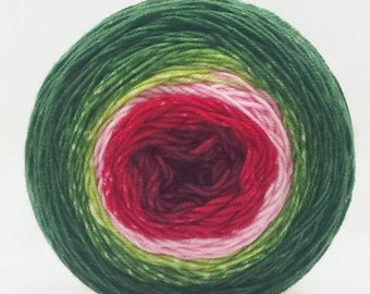 Watermelon Panoramic Gradient, 150g Fairy Dust, dyed to order