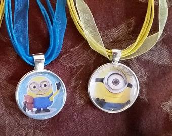 Minions pendant necklaces
