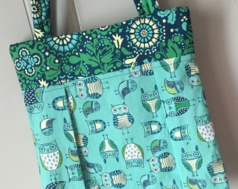 Owls & Flowers - Medium Tote
